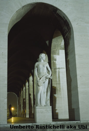 statues in the EUR Palace of Civilization and Work