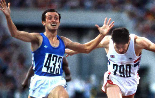 Pietro Mennea wins the gold medal in 1979